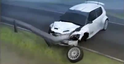 【動画】ロバート・クビサの事故、CGで再現