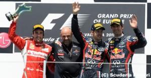 F1第8戦ヨーロッパGP決勝の結果
