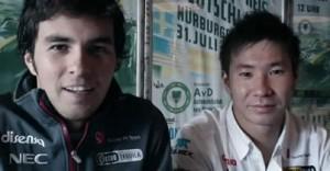 【動画】小林可夢偉とセルジオ・ペレス、F1ドイツGPについて語る