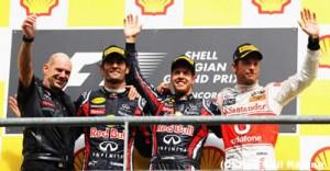 F1第12戦ベルギーGP決勝の結果