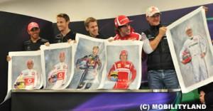 F1ボス発案・寄贈、現役チャンピオン5名の絵画がチャリティーオークションに
