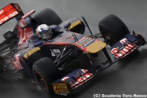 セバスチャン・ブエミ、雨用タイヤの交換タイミングを学習